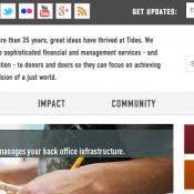 Tides Foundation website screenshot